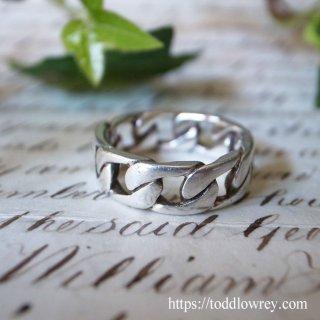 指に嵌める銀の鎖/ Vintage Sterling Silver Ring