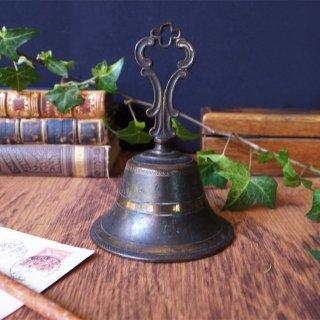 幸運の四つ葉を掲げた古き呼び鈴/ Antique Quatrefoil Table Bell