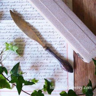 大航海時代の幕を開けた国から / Antique Silver Handle Letter Opener with Box from Portugal