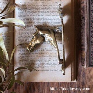 高貴で知的な種族に敬意を表して / Antique Horse Head Brass Door Knocker