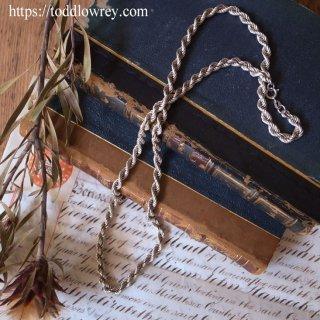 ヴィンテージシルバーの質感と輝きを堪能する / Vintage Braided Chain Necklace