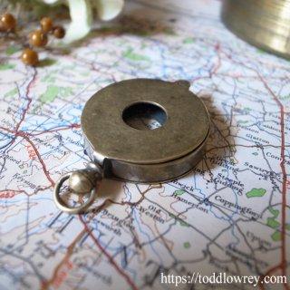 肌身離さず/ Antique Brass Jewellers Magnifying Glass Loupe