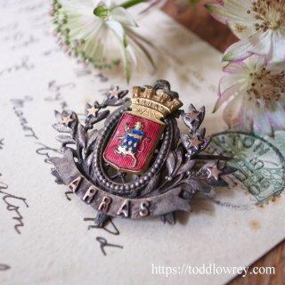 星とオリーブで飾られたフランス北部の町 / Antique Brooch with the Coat of Arms ARRAS