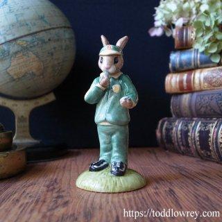 タイムを計るグリーンのジャージウサギ / Vintage Royal Doulton