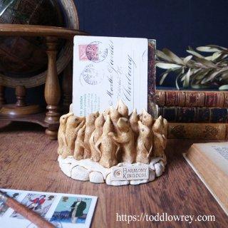 ペンギン法廷が開かれます/ Vintage Letter Rack with Penguins by Harmony Kingdom