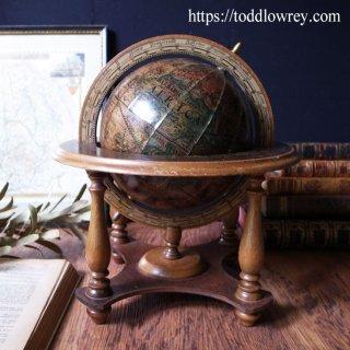 セピア色の黄道十二宮/Vintage Italian Zodiac Globe on Stand by MERCURIO D'ORO