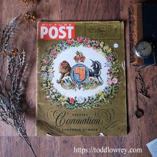 戴冠式のガイドブック / Vintage Magazine Picture POST 5th June 1953