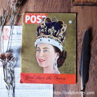神よ女王を守り給え / Vintage Magazine Picture POST 13th June 1953