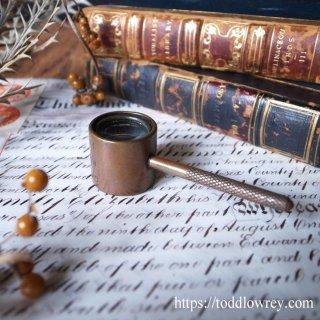 無限の可能性を見た2枚のレンズ/ Antique Brass Miniature Compound Lenses Magnifying Glass