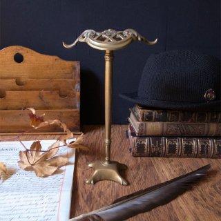 風格溢れるスタンドはいかが / Antique Victorian Brass Hat Stand with Hook(Wig Stand)