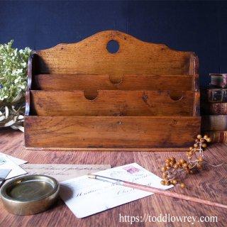 とびきりのオークを愛でる / Antique Oak Letter Rack
