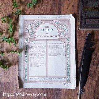 ネヴィンによるロザリーの楽譜/ Antique Sheet Music