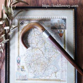 日々の外出に携えて / Antique Horn Crook Handle Walking Stick