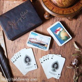 航海のお供にいかが / Vintage Waddingtons Playing Card Two Decks with the Box