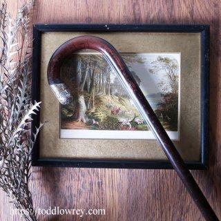 実直な英国紳士のステッキ / Antique Walking Stick with Sterling Silver Cap