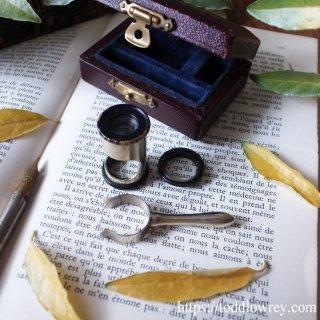 小箱を開けてミクロの世界を覗いてみよう / Antique Pocket Field Microscope Magnifying Glass