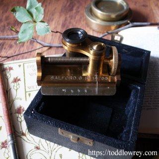 1インチの世界をカウントする/ Antique Cased Brass Textile Thread Counter Magnifying Glass