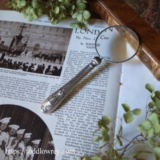 生命の泉をもつ銀の拡大鏡 / Antique Sterling Silver Handle Magnifying Glass 1916