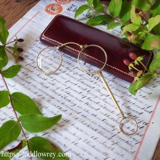 アーサー・シュヴァリエ博士のローネットはいかが /Antique Lorgnettes with Case by Dr. Arther Chevallier