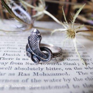 神秘的な知の象徴 / Vintage Silver Snake Ring