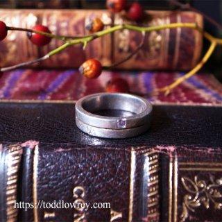理性を感じるシルバーリング/ Vintage Sterling Silver Ring