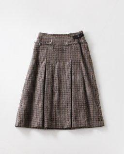 GASA* 落陽 ボックスプリーツスカート