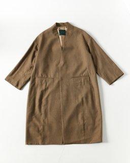 NATIVE VILLAGE No.8 Woolsilk ノーカラーロングジャケット