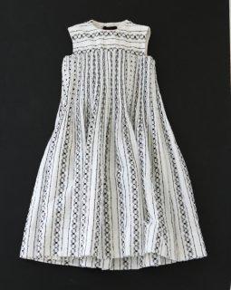 tricot COMME des GARÇONS カットレースボンディング・ハンド刺繍ワンピース BLACK/WHITE×WHITE