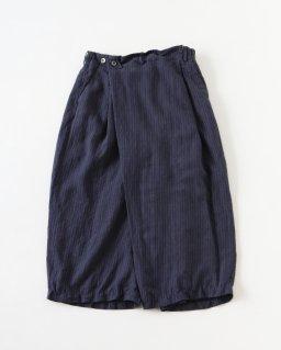 suzuki takayuki  wide legged pants � NAVY STRIPE
