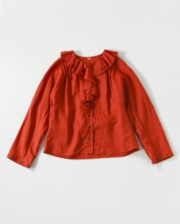 Nigel cabourn RUFFIE BLOUSE ORANGE