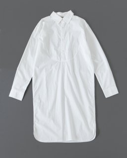 THE FACTORY ロングシャツワンピース WHITE