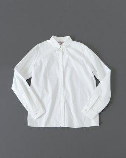 THE FACTORY コットンフライフロントシャツ WHITE