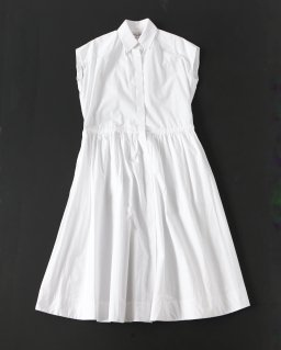 THE FACTORY ノースリーブカラードレス WHITE