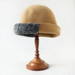 mature ha. free hat boa  beige . 19AW