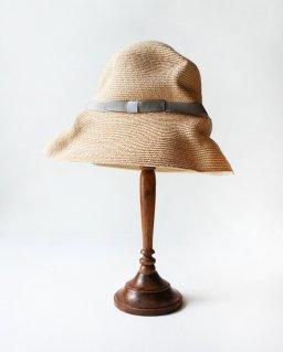mature ha. BOXED HAT raffia 11cm brim (2020SS)