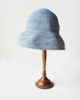 mature ha. paper linen braid denim hat wide (2020SS)