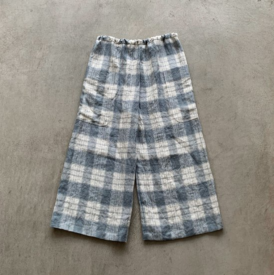 TOWAVASE Vetements de travail pants blue check(2021SS)