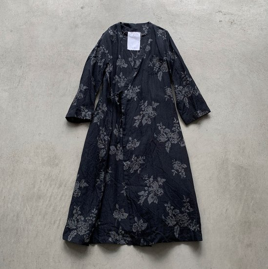 the last flower of the afternoon 咲き添ふ BACK PANEL GATHER GOWN (2021SS)