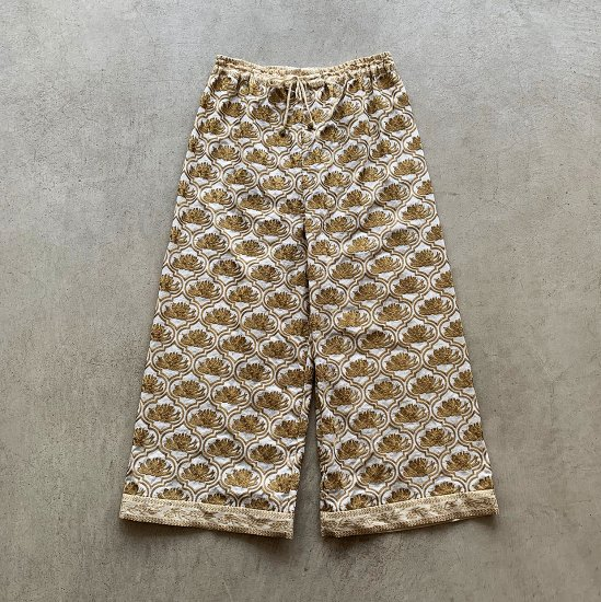 TOWAVASE Koruneri pants whitexgold(2021SS)