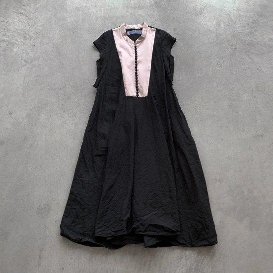 HALLELUJAH  ノースリーブローブ1940年代   Black x pink (2021SS)