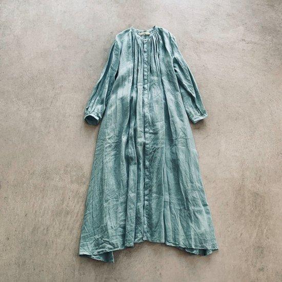 suzuki takayuki flared dress spray green