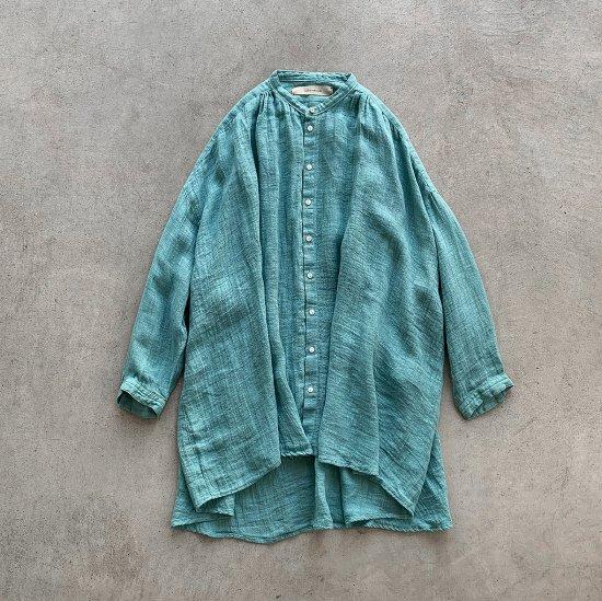 suzuki takayuki over blouse spray green (2021SS)