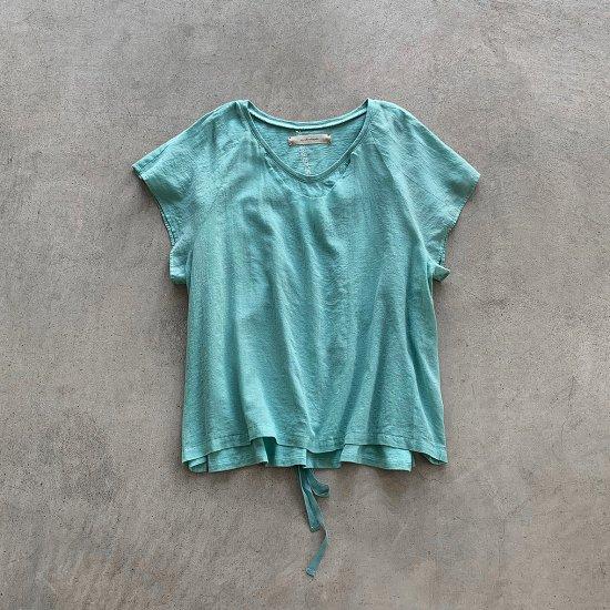 suzuki takayuki layered t-shirt spray green (2021SS)