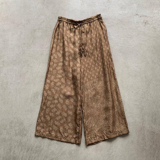 TOWAVASE  Sarasa pants camel(2021AW)