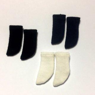 オビツ11サイズ ハイソックス 3足set(白・黒・紺)white・black・navy