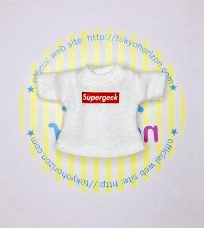 オビツ11サイズ Tシャツ(半袖白 / Supergeek)