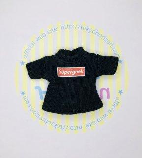 オビツ11サイズ Tシャツ(半袖黒 / Supergeek)