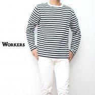 WORKERS/ワーカーズ Narrow Border ナローボーダー ロングスリーブ Black/White
