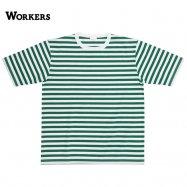 WORKERS/ワーカーズ Narrow Border ナローボーダー White/Green