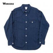 WORKERS/ワーカーズ LT Work Shirt ワークシャツ Indigo Doby